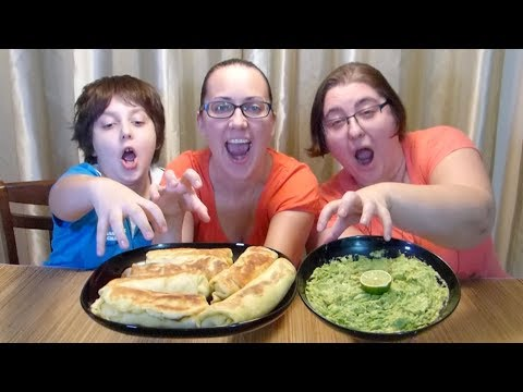 Meat Stuffed Blini And And Guacamole | Gay Family Mukbang (먹방) - Eating Show