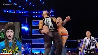 WWE Smackdown 1/10/17 John Cena vs Baron Corbin