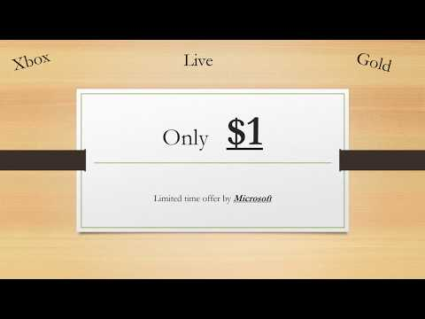 Xbox Live Gold $1 for 1 month (Limited time from Microsoft (12 days left))