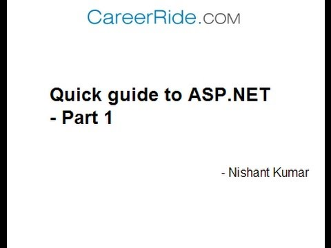 Quick guide to ASP.NET