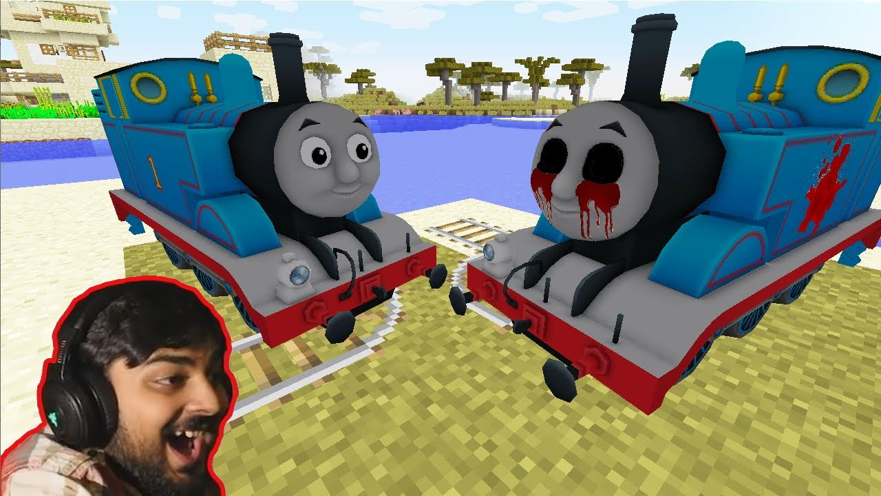 The Real THOMAS vs Cursed THOMAS EXE in Minecraft