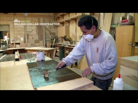 Apply Formica Inside a Drawer | Million Dollar Contractor | HGTV Asia