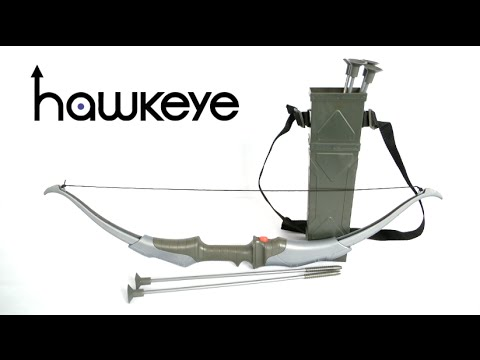 Marvel Avengers Deluxe Hawkeye Quiver with Collapsible Bow and Arrow Set from The Disney Store