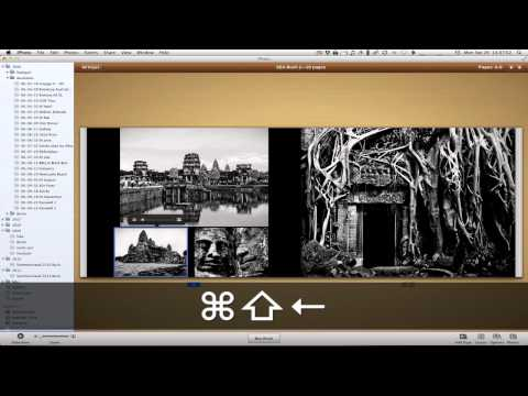 Undocumented Keyboard shortcuts in iPhoto to edit layouts!
