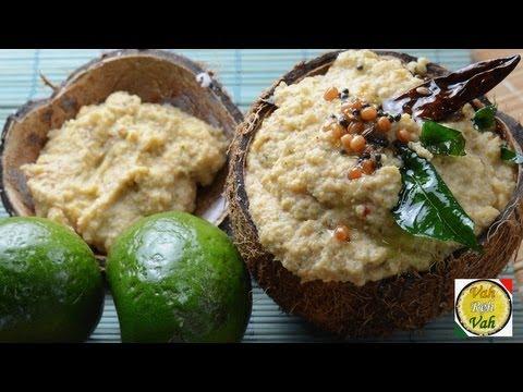 Raw Mango and Coconut Chutney - By Vahchef @ vahrehvah.com