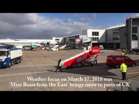 Jet2 com Flight LS1215 taking off from Birmingham Airport March 17, 2018