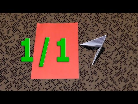 How to fold the pieces (triangles) for 3D origami size 1/1