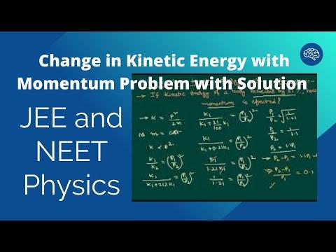 Change in Kinetic Energy with Momentum