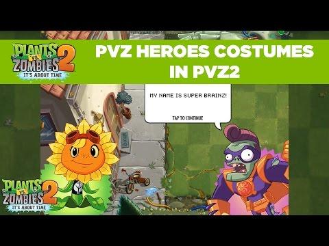 PvZ Heroes Costumes in PvZ2 | Plants vs. Zombies 2
