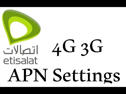 Etisalat 4G Internet APN Access Point Name Settings for faster internet
