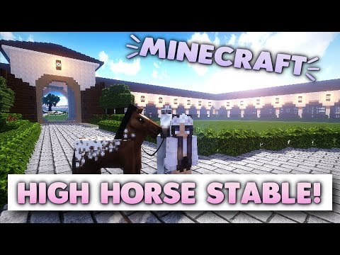 Minecraft Horse Farm Tour - High Horse Stable Build