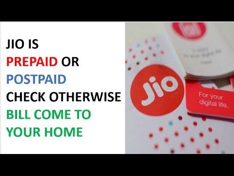 CHECK YOUR JIO BILL | PREPAID OR POSTPAID SIM | How to Check Jio Sim Prepaid or Postpaid