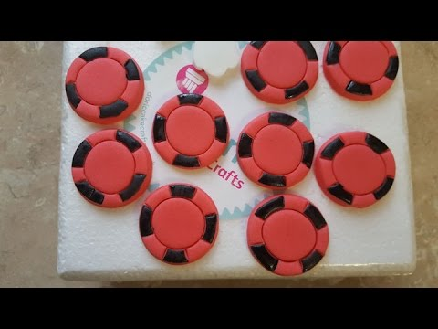 making fondant poker chips cupcake or cake toppers