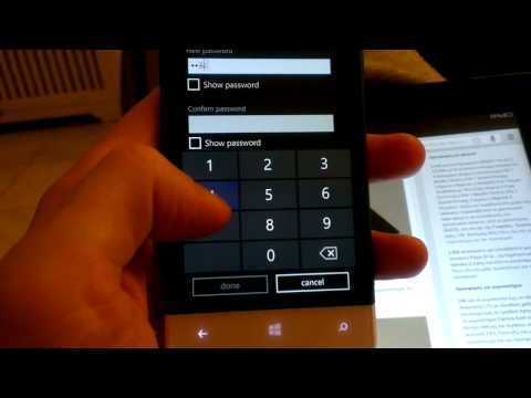 Lock a Windows Phone 8 smartphone with a password