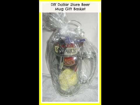 How to make a Beer Mug Gift Basket/ DIY Valentine's GIFT IDEAS/ DIY/ Handmade Gifts for Men