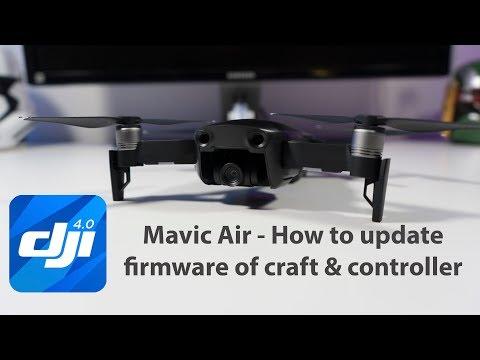 DJI Mavic Air - How to update firmware & controller