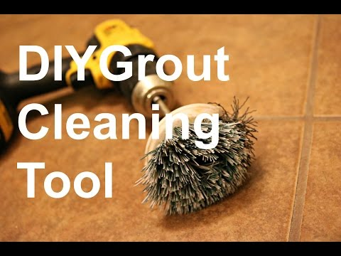 DIY $2 Grout Cleaning Tool
