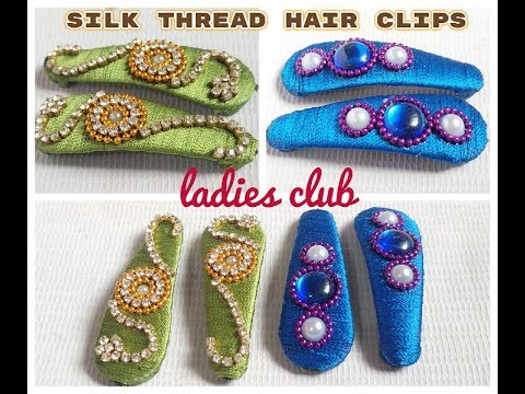 Silk Thread Hair Clips Making I Silk thread jewelry I DIY I Hair Clips Tutorial at Home