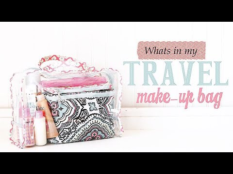 GIVEAWAY (CLOSED)!! What's In My Travel Makeup Bag?