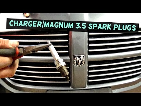 DODGE CHARGER HOW TO REPLACE SPARK PLUGS and IGNITION COIL | DODGE MAGNUM