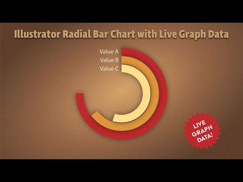 Make a Radial Bar Graph in Adobe Illustrator keeping data live