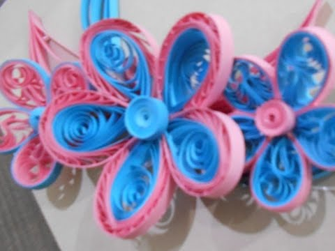 how to make a quilling flower using a comb