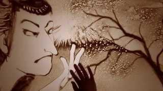 サンドアート「日本」 Sand art by SILT(船本恵太・安蘭)