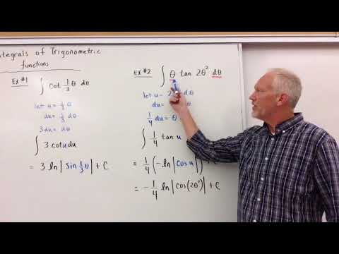 Integration of Trig Functions with Natural Logs