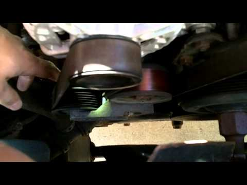 How to change the serpentine belt on a 2003 Dodge Ram 1500.