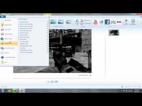 How to Upload a Windows Live Movie Maker Video onto YouTube