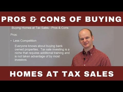 Pros & Cons of Buying Houses at Tax Sale & Tax Deed Auctions