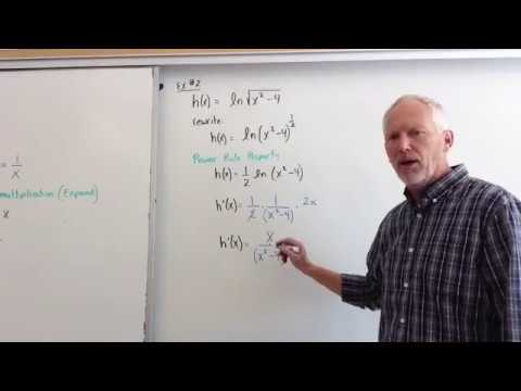 differentiation of natural log functions