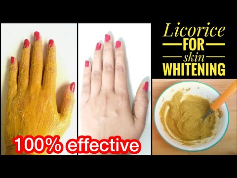 Permanent skin whitening with LICORICE|Get milky white skin permanently!!!
