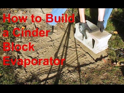 Bulding a Cinder block arch evaporator 1
