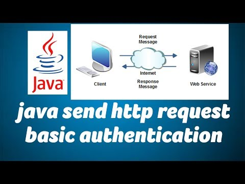 JAVA send http Get Post request with basic authentication