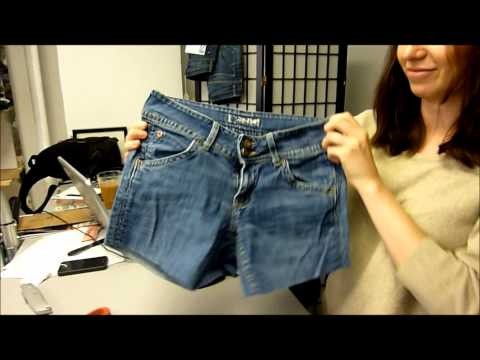 How To Make Cut Off Shorts - DIY - Denim Therapy