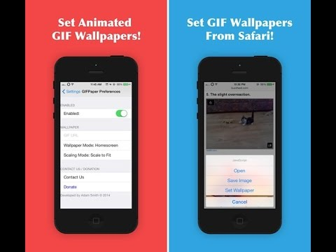 How to set a gif as your wallpaper (home screen and lock screen) iPhone, iPad iPod touch