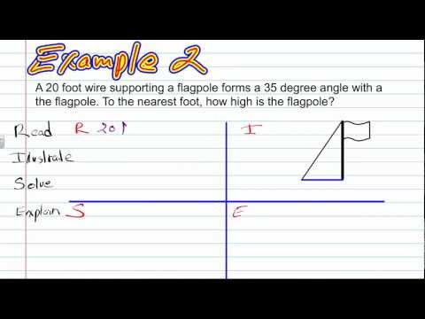 Sine and  Cosine Ratios | Geometry How To Help