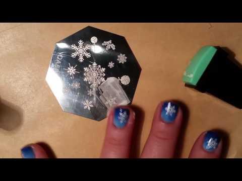 Snowflake Stamp Nail Art