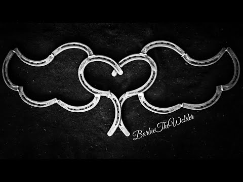 How To Weld A Horseshoe Heart With Wings Easy MIG Welding Project With BarbieTheWelder