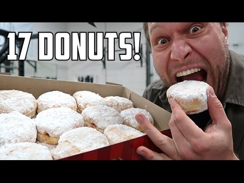17 Powdered Jelly Donuts In Under 2 Minutes!