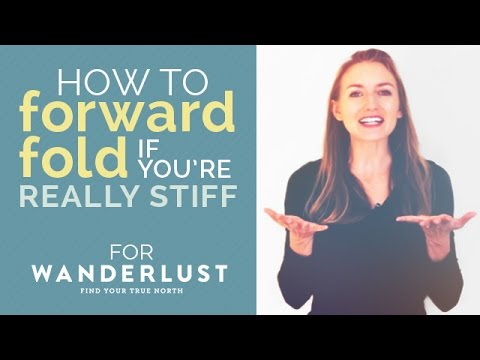 How to do a Forward Fold - Even if You're Injured or REALLY Stiff - Yoga Hacks for Beginners!