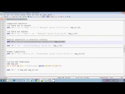 Unix shell scripting awk comparison calling subprogram part 3