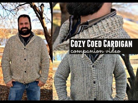 Cozy Coed Cardigan Pattern Companion Tutorial Video