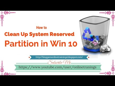 How to Clean up System Reserved Partition in all Windows 10/8/7/XP in Urdu and Hindi