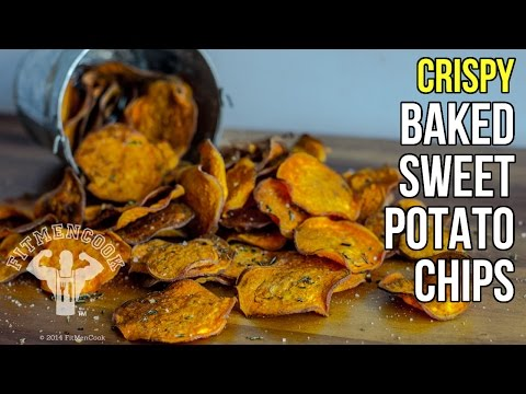 How to Make Crispy Baked Sweet Potato Chips / Como Hacer Chips de Batata