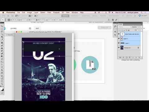 Using LAYAR to create an HBO concert poster