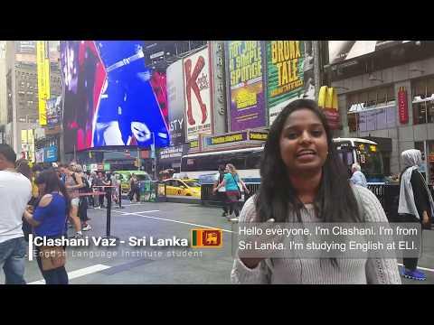 ELI student from Sri Lanka - Study English in New York