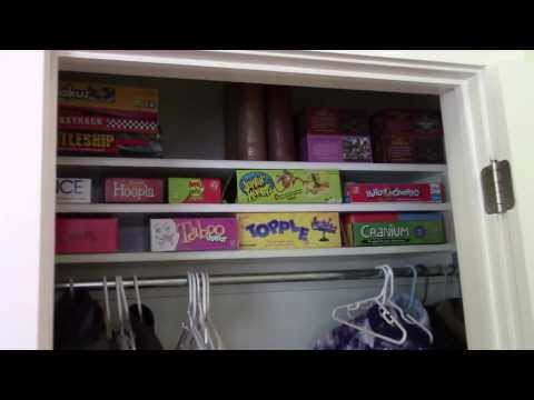How to build Board Game Closet Shelves - EASILY!