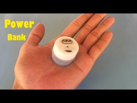 How to make a smallest powerbank using plastic bottle's covers lid